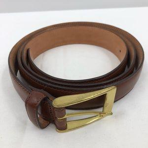 Leather belt men's size 48